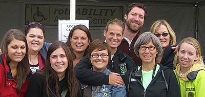 "Some of the 2009 ""Rothability"" Access Team – Staff, Sign Language Interpreters, and Shuttle Drivers"